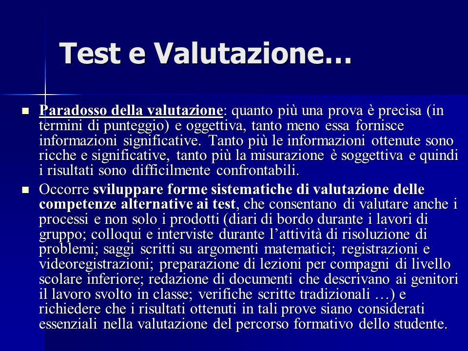 Test e Valutazione…