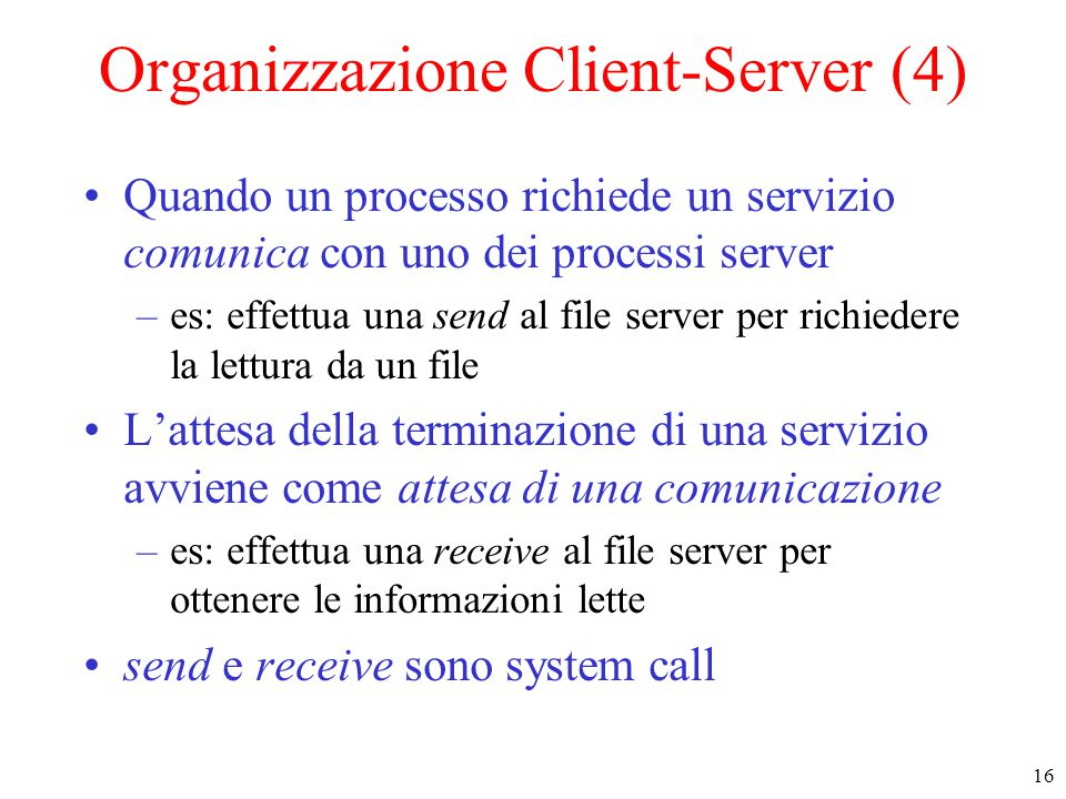 Organizzazione Client-Server (4)