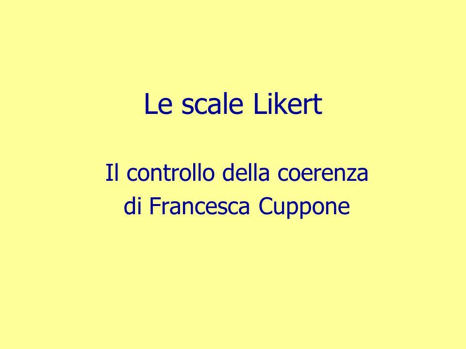 Il controllo della coerenza di Francesca Cuppone