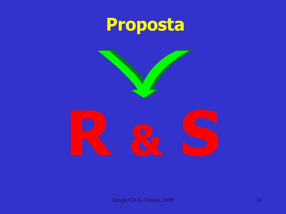 Proposta R & S Grupo CIeA - Troina, 1998
