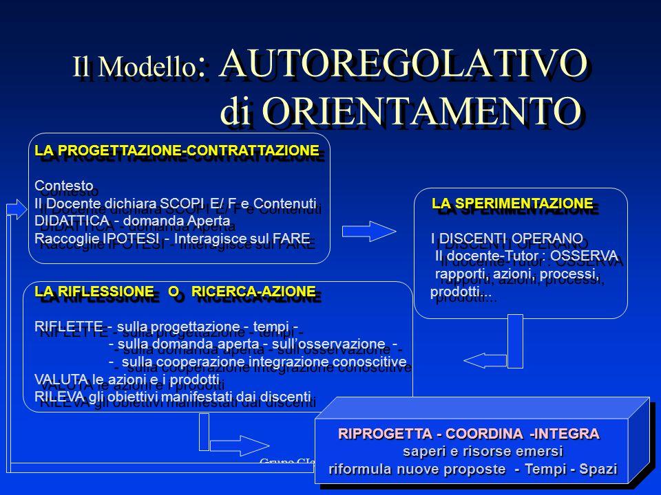 Il Modello: AUTOREGOLATIVO di ORIENTAMENTO