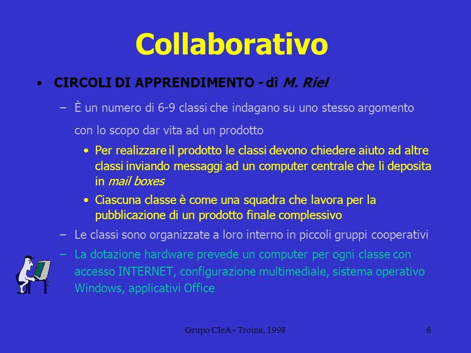 Collaborativo CIRCOLI DI APPRENDIMENTO - di M. Riel