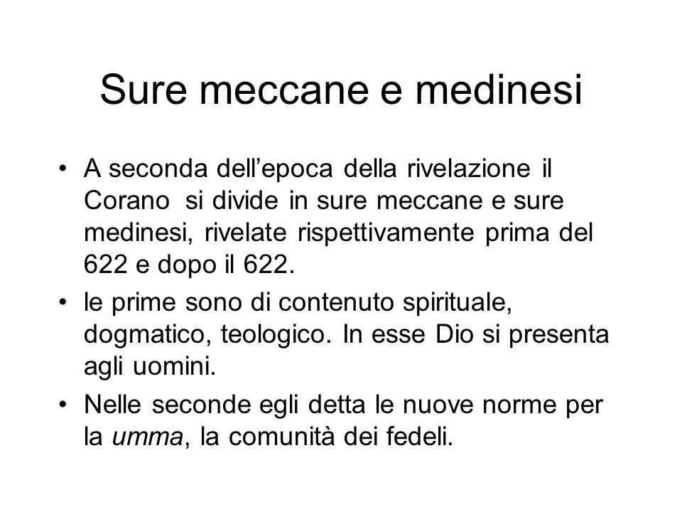 Sure meccane e medinesi