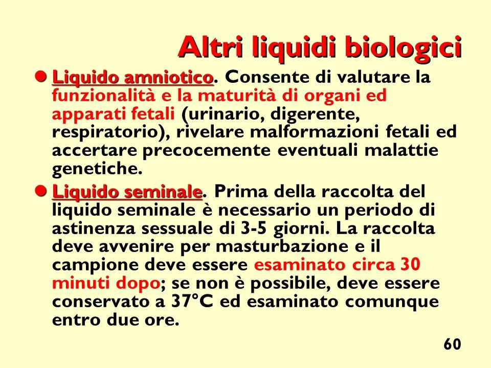 Altri liquidi biologici