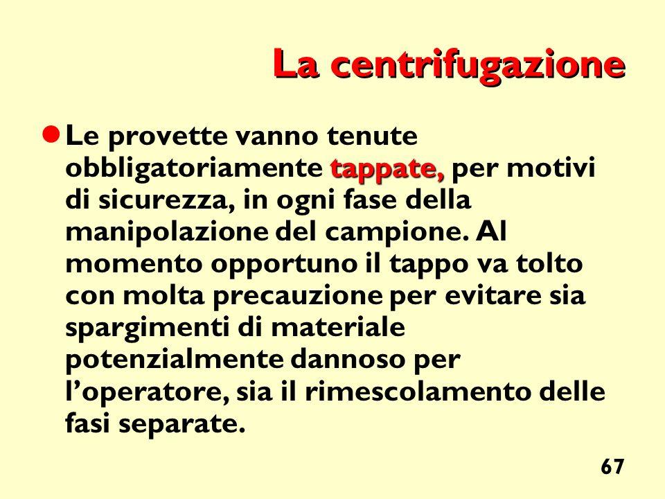 La centrifugazione