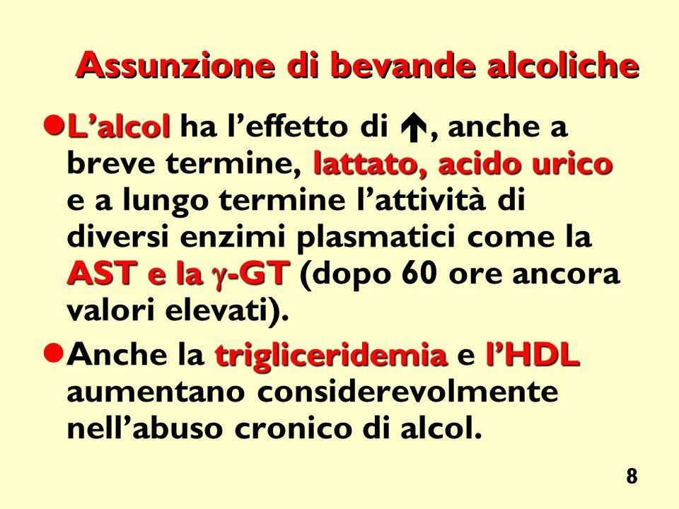 Assunzione di bevande alcoliche