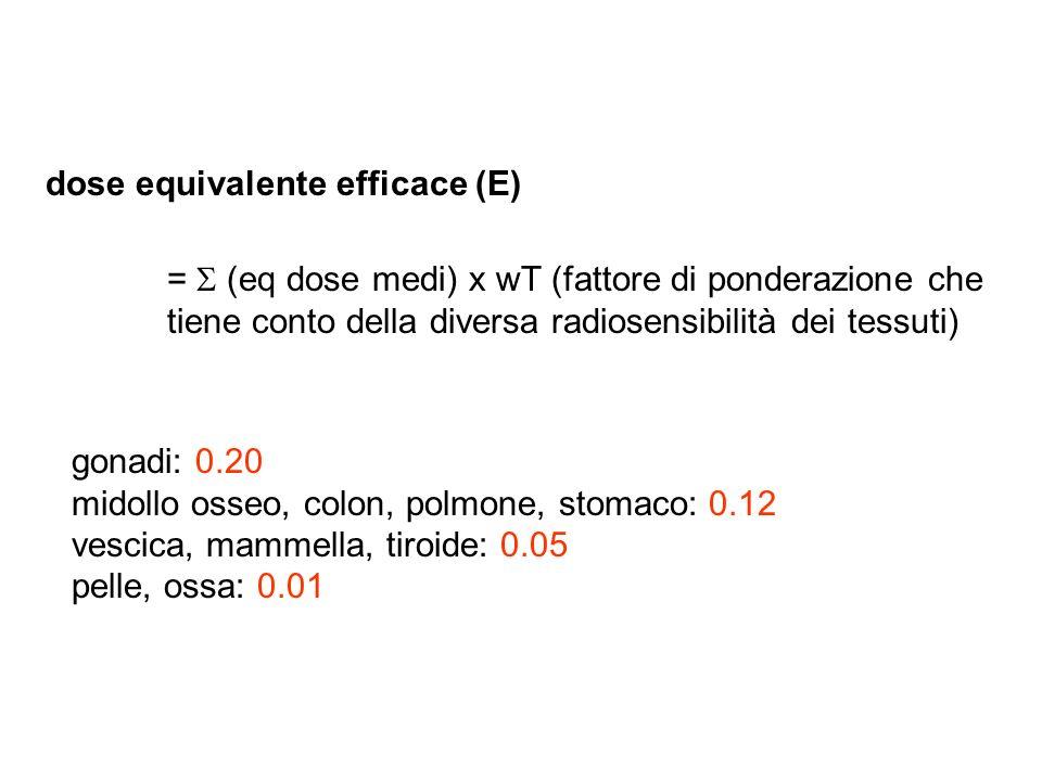 dose equivalente efficace (E)