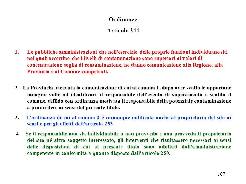 Ordinanze Articolo 244.
