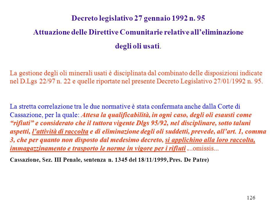 Decreto legislativo 27 gennaio 1992 n. 95