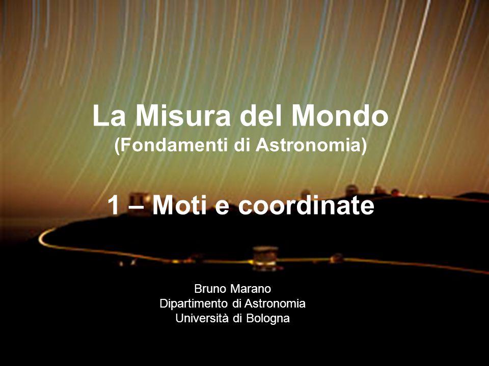 La Misura del Mondo (Fondamenti di Astronomia) 1 – Moti e coordinate
