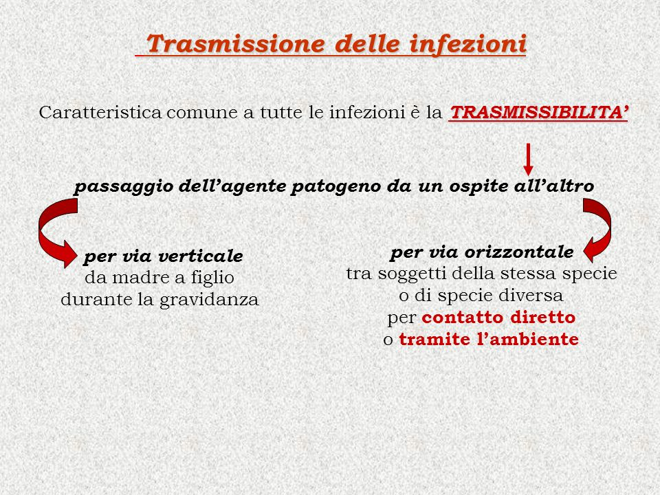 Trasmissione delle infezioni