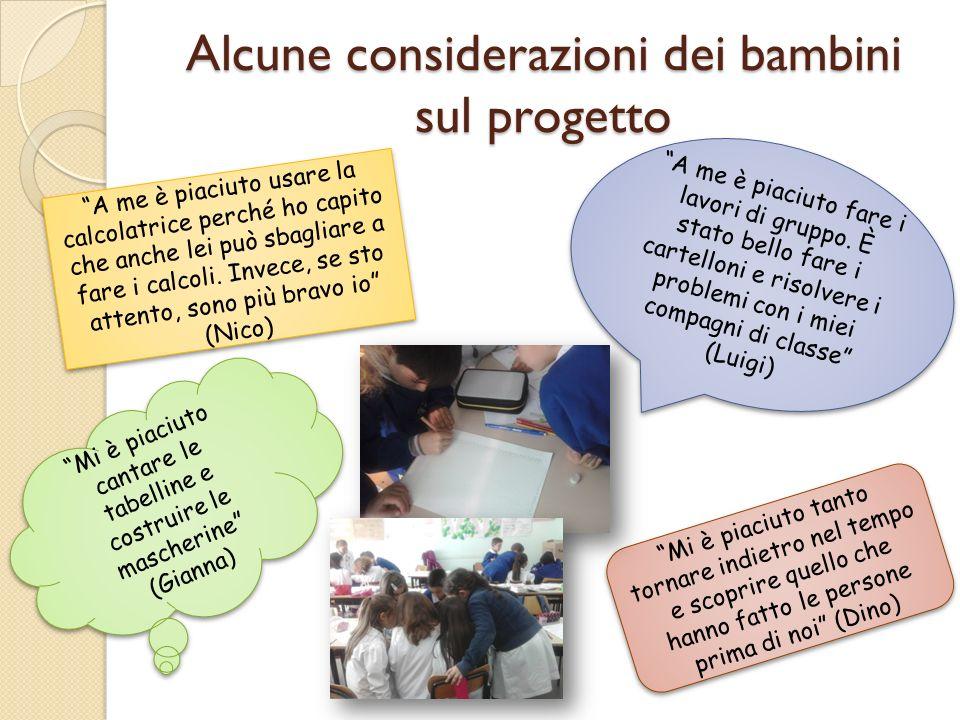 Alcune considerazioni dei bambini sul progetto