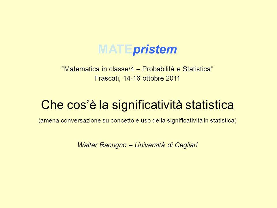 Che cos'è la significatività statistica