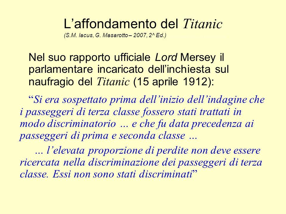 L'affondamento del Titanic (S. M. Iacus, G. Masarotto – 2007, 2^ Ed