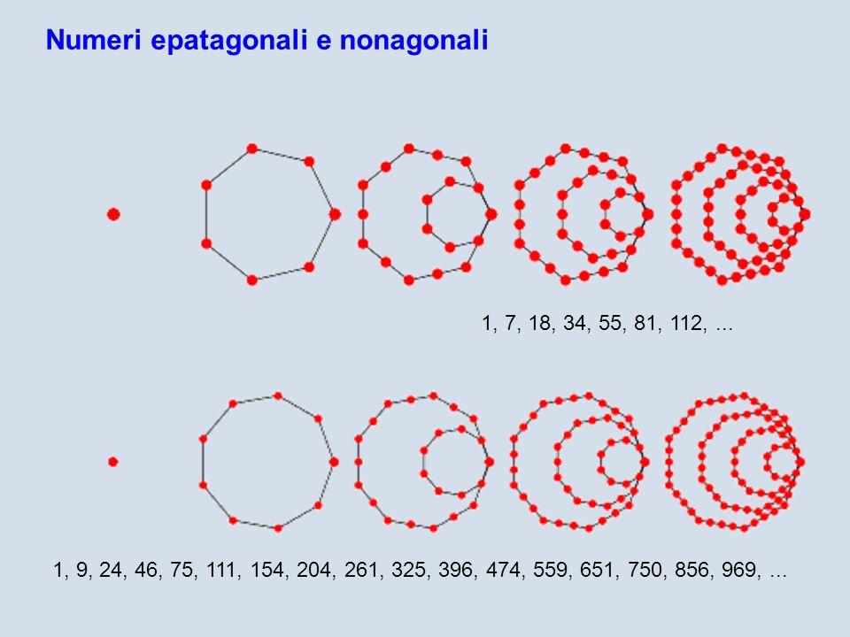 Numeri epatagonali e nonagonali