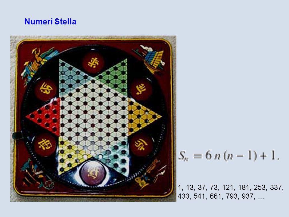 Numeri Stella 1, 13, 37, 73, 121, 181, 253, 337, 433, 541, 661, 793, 937, ...