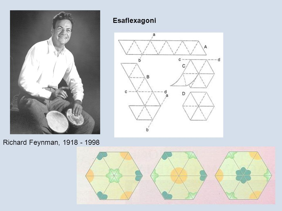 Esaflexagoni Richard Feynman, 1918 - 1998
