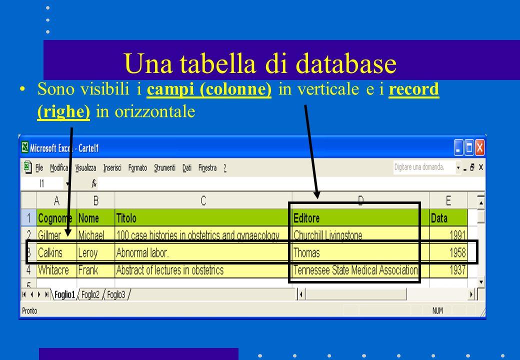 Una tabella di database