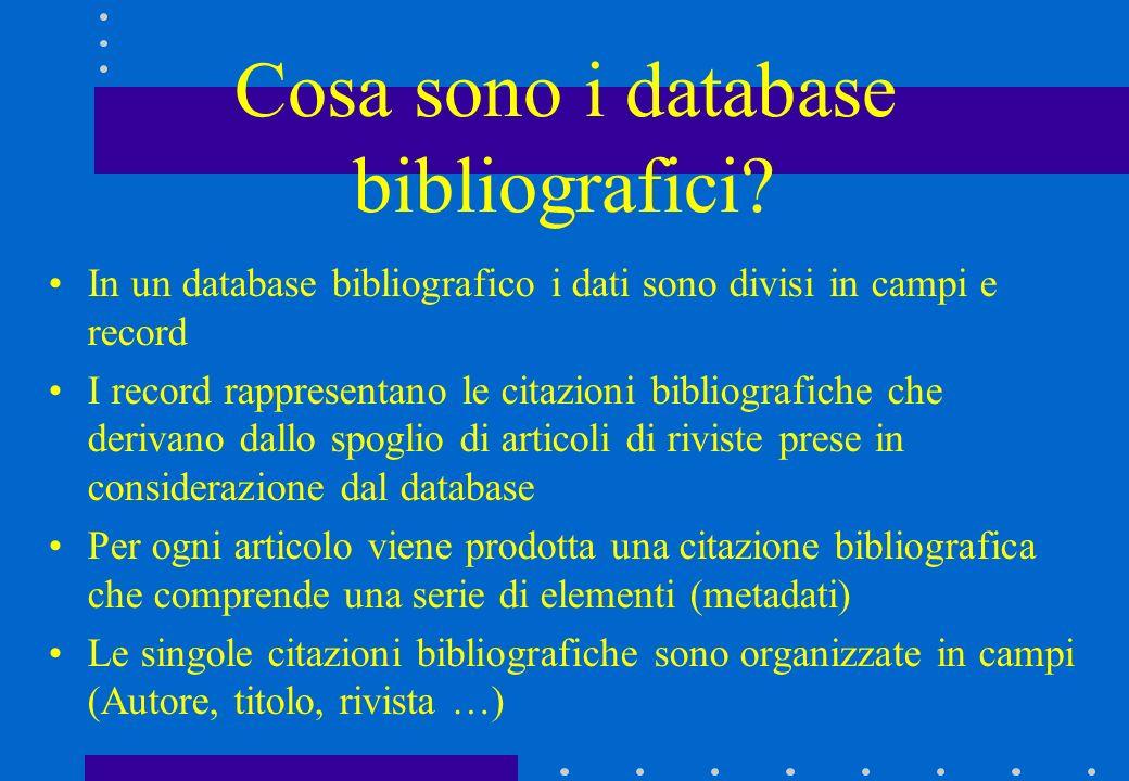 Cosa sono i database bibliografici