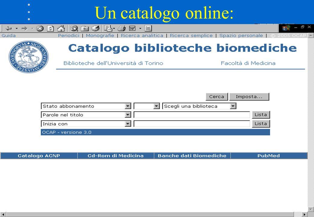 Un catalogo online: