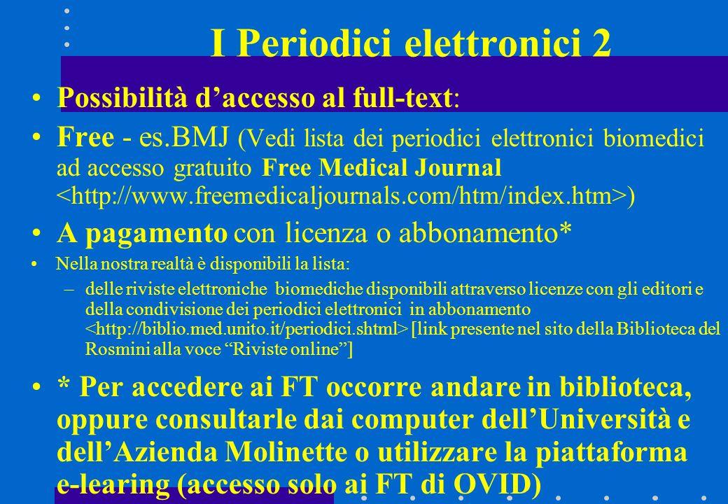 I Periodici elettronici 2