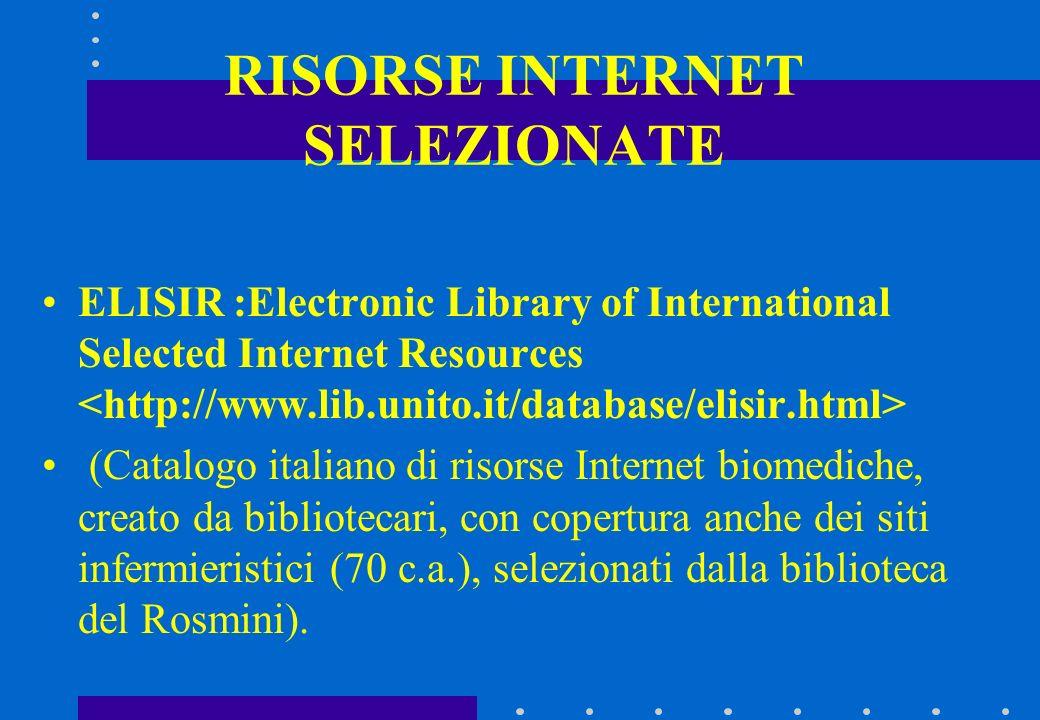 RISORSE INTERNET SELEZIONATE