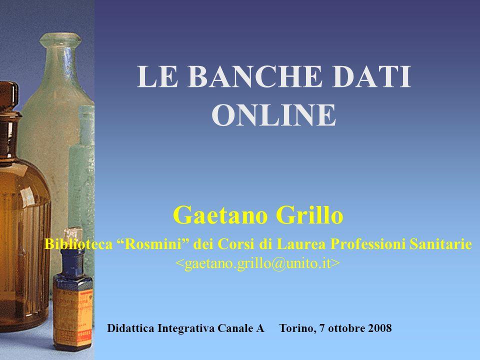 Didattica Integrativa Canale A Torino, 7 ottobre 2008