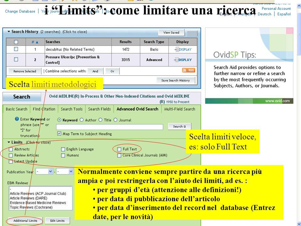 i Limits : come limitare una ricerca