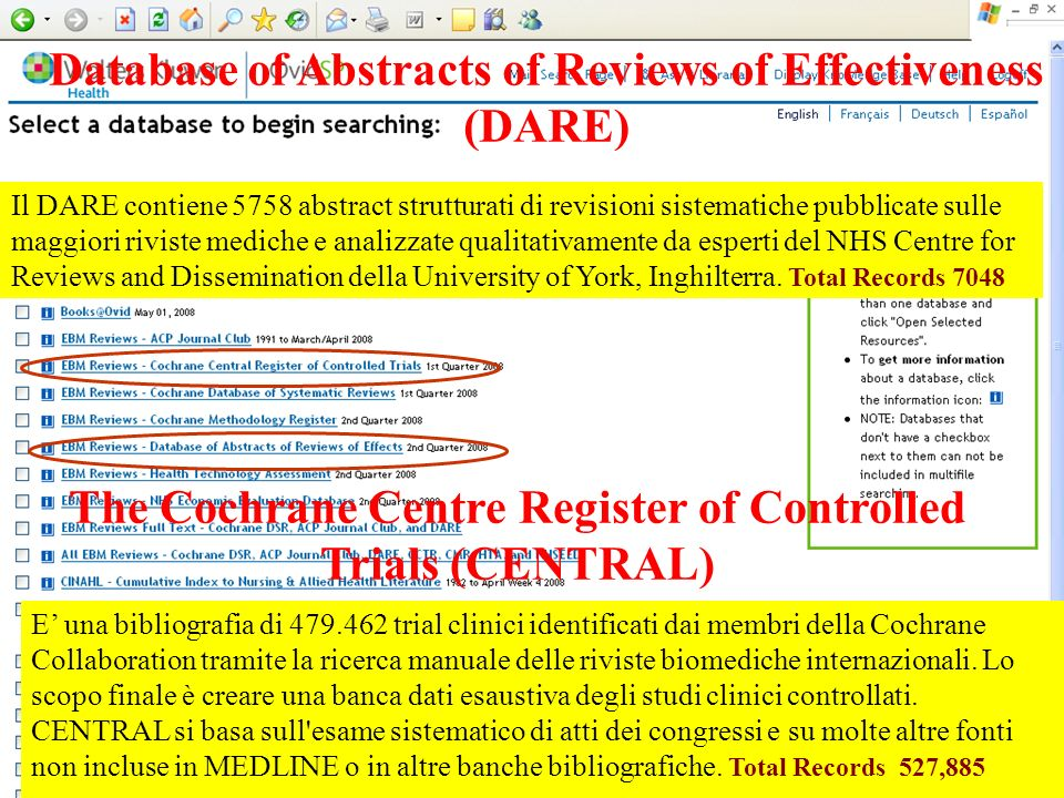 The Cochrane Centre Register of Controlled Trials (CENTRAL)