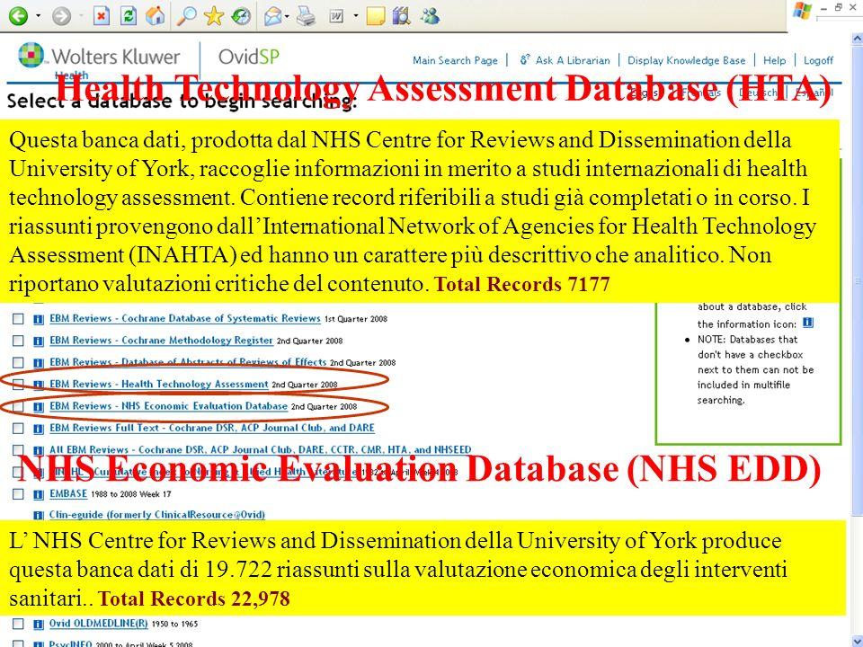 Health Technology Assessment Database (HTA)