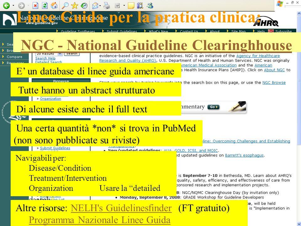 Linee Guida per la pratica clinica: