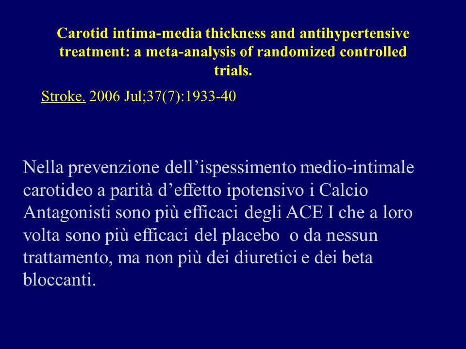 Carotid intima-media thickness and antihypertensive treatment: a meta-analysis of randomized controlled trials.