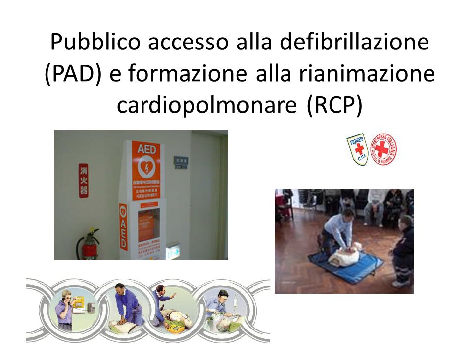 Pubblico accesso alla defibrillazione (PAD) e formazione alla rianimazione cardiopolmonare (RCP)