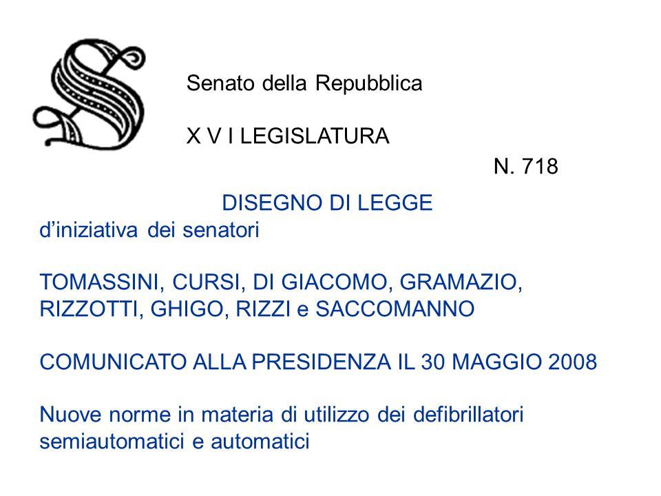 Senato della Repubblica X V I LEGISLATURA