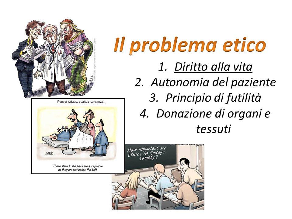 Il problema etico Diritto alla vita Autonomia del paziente