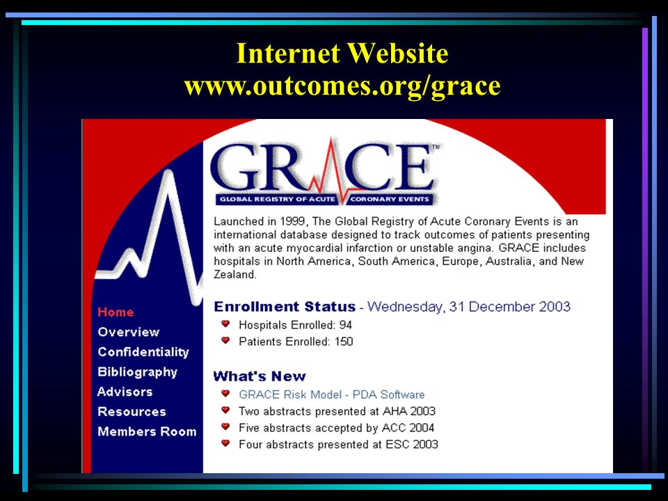 Internet Website www.outcomes.org/grace