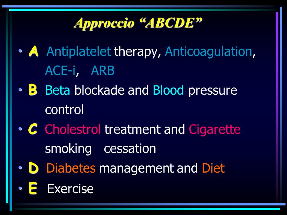 A Antiplatelet therapy, Anticoagulation,