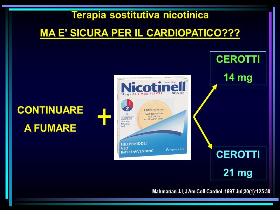 Terapia sostitutiva nicotinica MA E' SICURA PER IL CARDIOPATICO