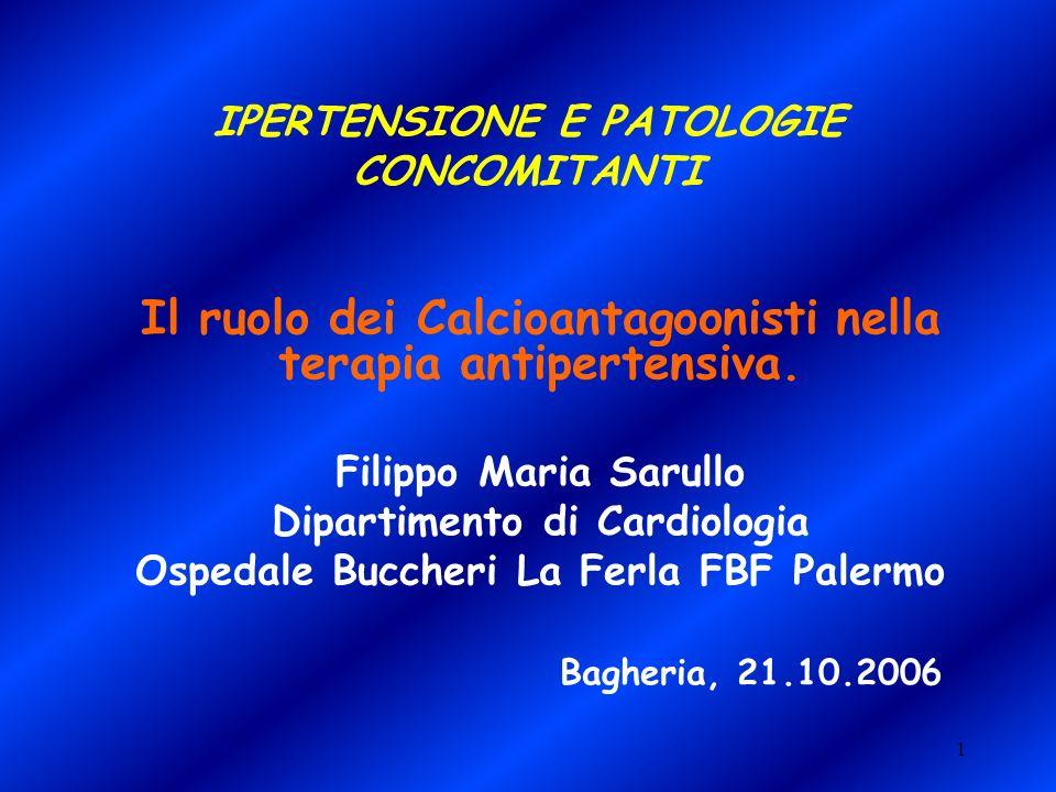 IPERTENSIONE E PATOLOGIE CONCOMITANTI