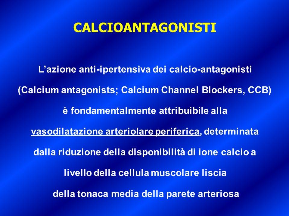 CALCIOANTAGONISTI L'azione anti-ipertensiva dei calcio-antagonisti