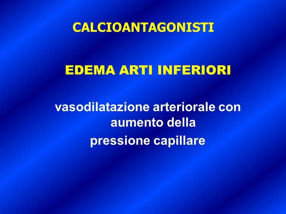 vasodilatazione arteriorale con aumento della