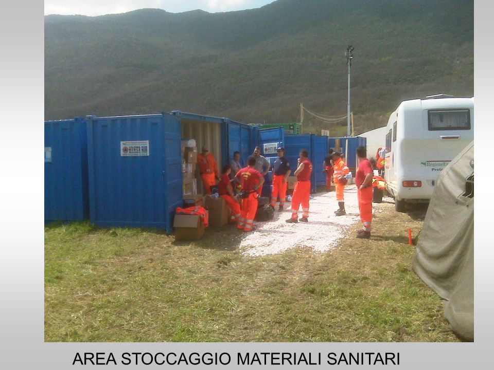AREA STOCCAGGIO MATERIALI SANITARI