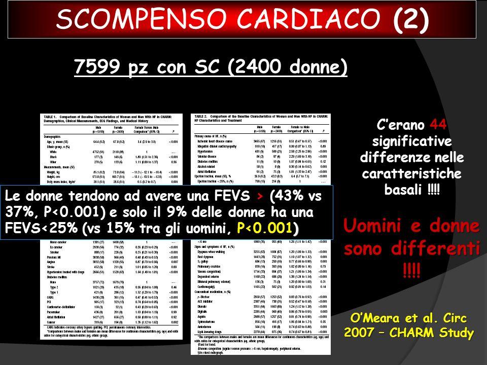 SCOMPENSO CARDIACO (2) 7599 pz con SC (2400 donne)