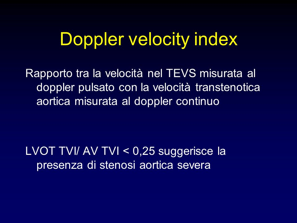 Doppler velocity index