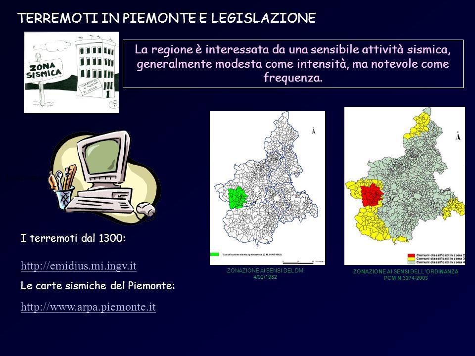 ZONAZIONE AI SENSI DELL'ORDINANZA PCM N.3274/2003