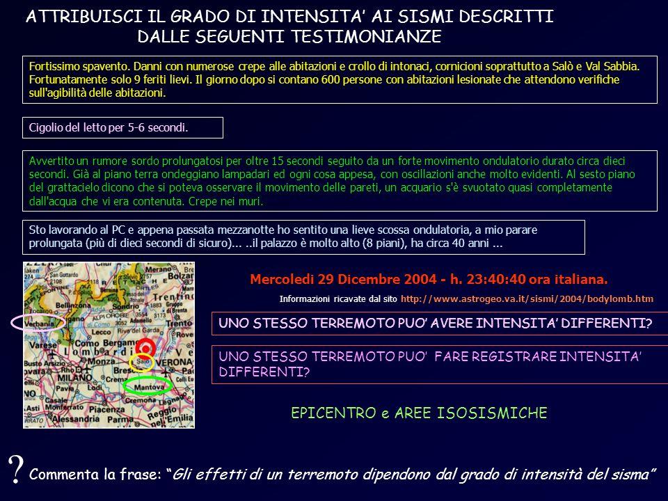 Mercoledi 29 Dicembre 2004 - h. 23:40:40 ora italiana.