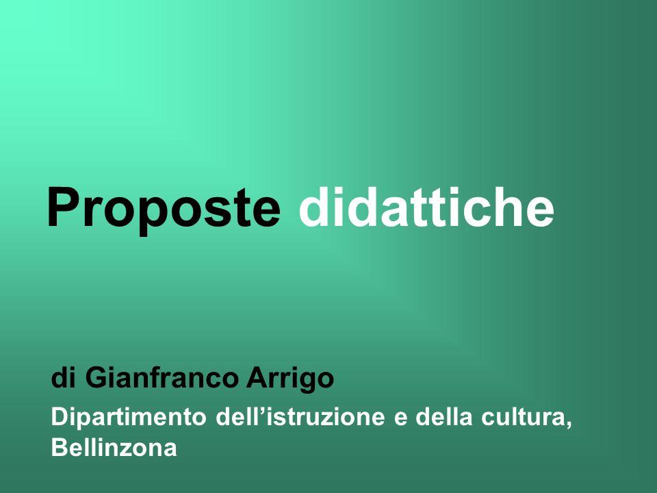 Proposte didattiche di Gianfranco Arrigo