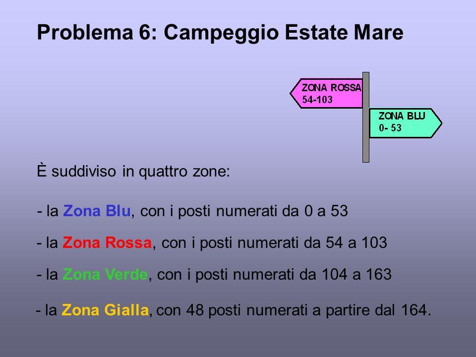 Problema 6: Campeggio Estate Mare