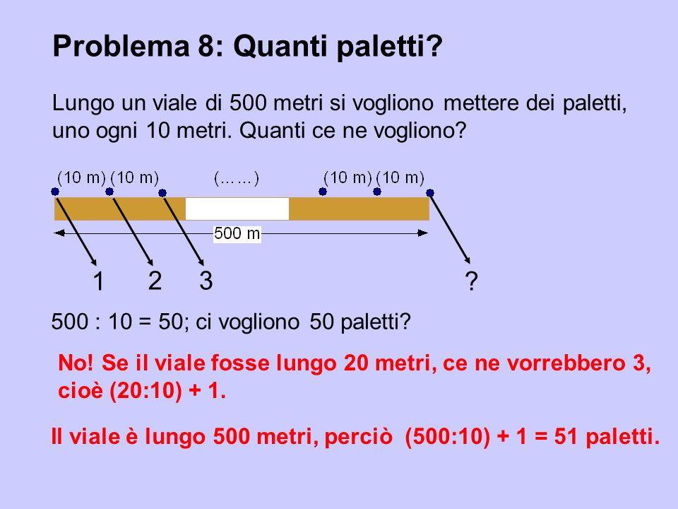 Problema 8: Quanti paletti