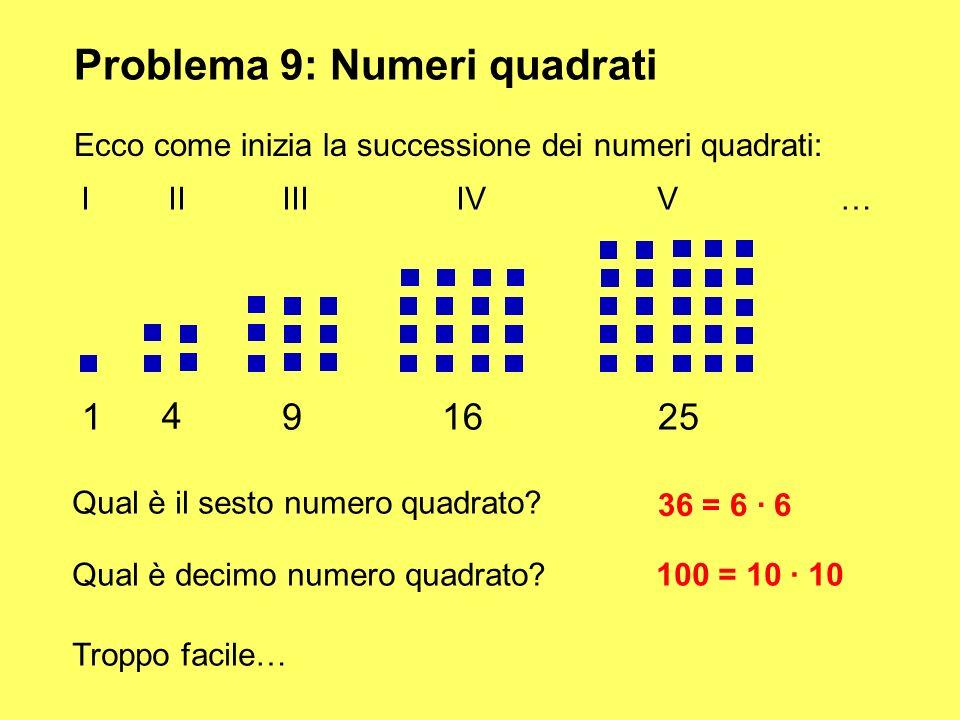 Problema 9: Numeri quadrati